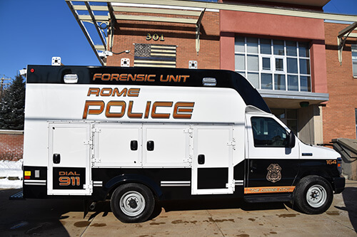 rome police department forensic unit vehicle