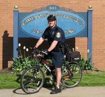 rome police department mountain bike patrolman