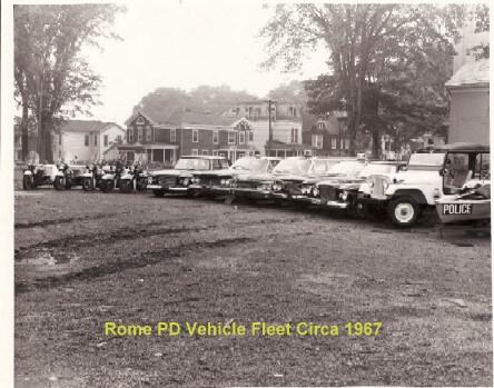 rome police department vehicle fleet circa 1967