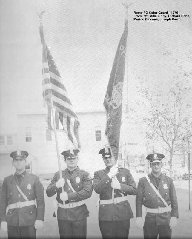 rome police department color guard circa 1976