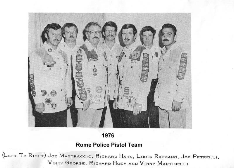 rome police pistol team from 1976
