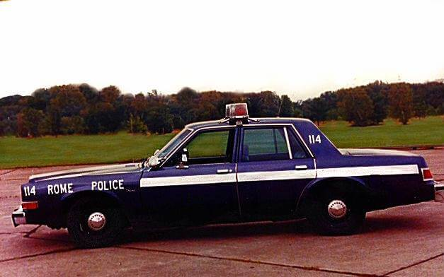old rome police department vehicle