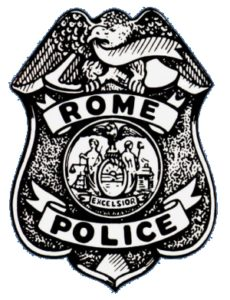 historical rome police department badge