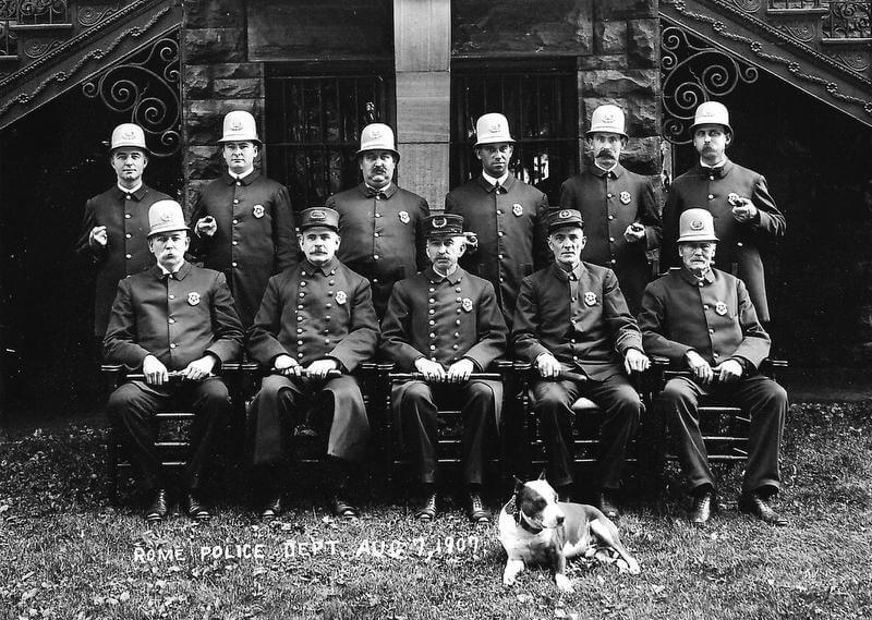 1907 rome police department team photo