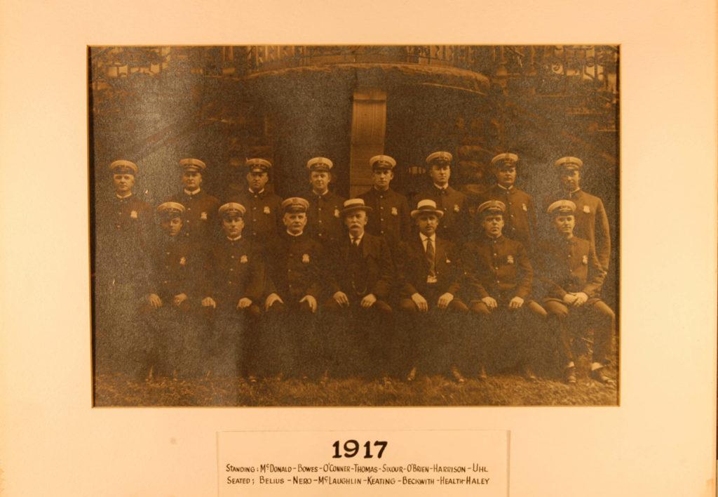 1917 rome police department team photo