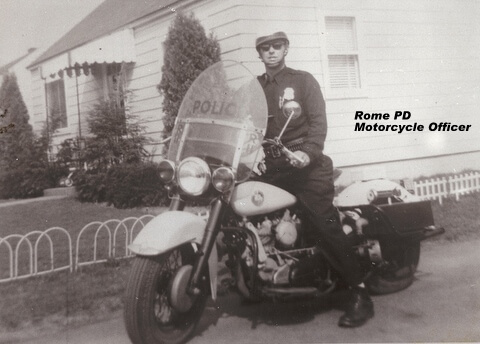 rome police department officer on a motorcycle